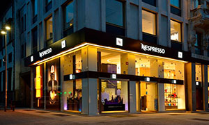 Флагманский бутик Nespresso в Милане